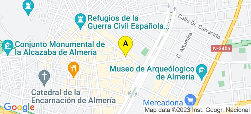 situacion en el mapa de . Direccion: RAMBLA OBISPO ORBERA, 30, 04001 Almería. Almería