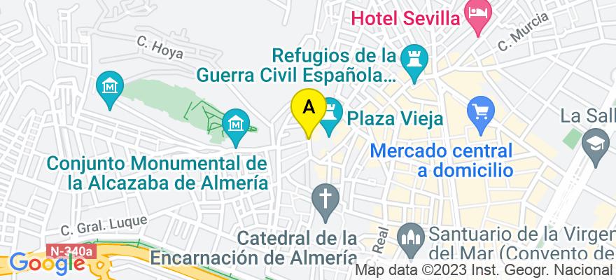 situacion en el mapa de . Direccion: C/Zaragoza nº 7  2º Izq., 04001 Almería. Almería