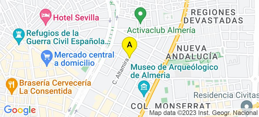 situacion en el mapa de . Direccion: calle altamira 54   2-1, 04005 Almería. Almería