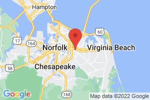 Map of Southern Virginia Beach