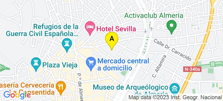 situacion en el mapa de . Direccion: C/. JUAN LIROLA. 25, 6º-B,  04004 ALMERIA, 04004 Almería. Almería