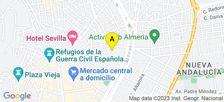 situacion en el mapa de . Direccion: CALLE SAN LEONARDO, Nº 40, 9º, 04004 Almería. Almería