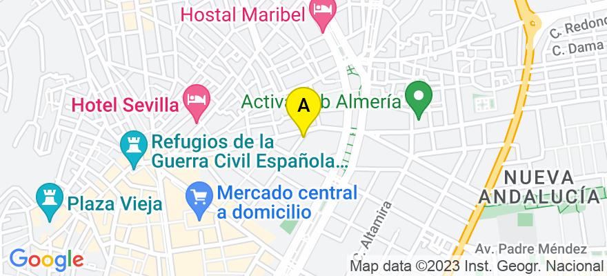 situacion en el mapa de . Direccion: CALLE SAN LEONARDO, Nº 40, 04004 Almería. Almería