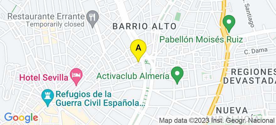 situacion en el mapa de . Direccion: Rambla Belen Nº 8, 04008 Almería. Almería