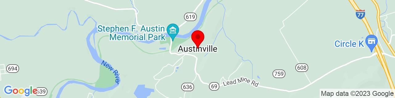 Google Map of 36.8512342, -80.9120233