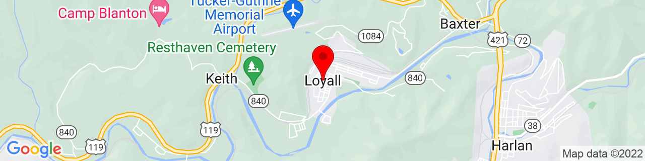 Google Map of 36.8520327, -83.3540718