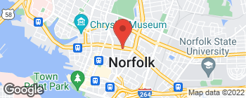 Map of 501 E Brambleton Ave in Norfolk