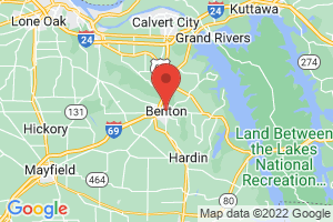 Map of Benton