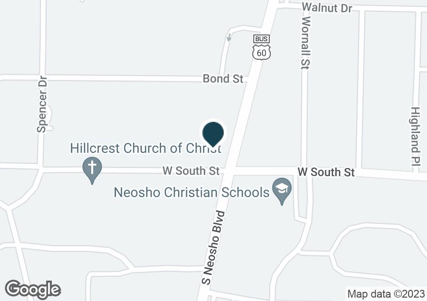 Google Map of880 S NEOSHO BLVD