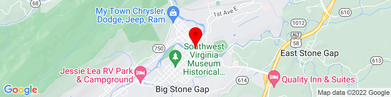 Google Map of 36.867777777777775, -82.77444444444444