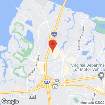 Map of Bed Bath & Beyond at 6253A College Drive, Suffolk, VA 23435