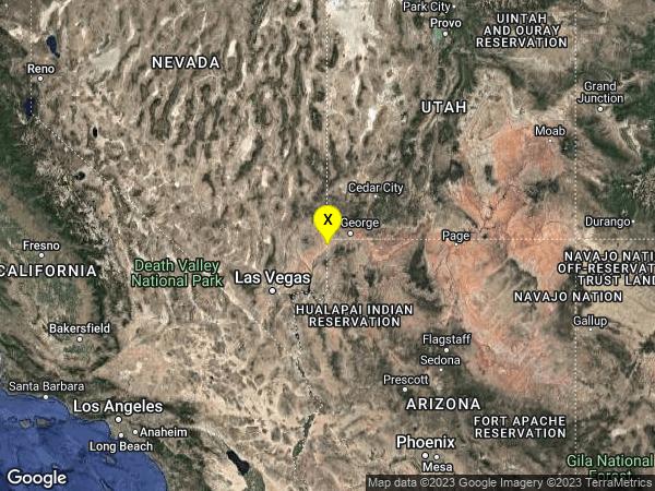 earthquake 9km W of Beaver Dam, Arizona