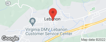Map of 113 E Main St in Lebanon