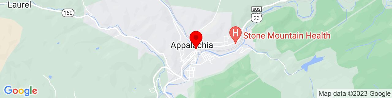 Google Map of 36.90676, -82.78183