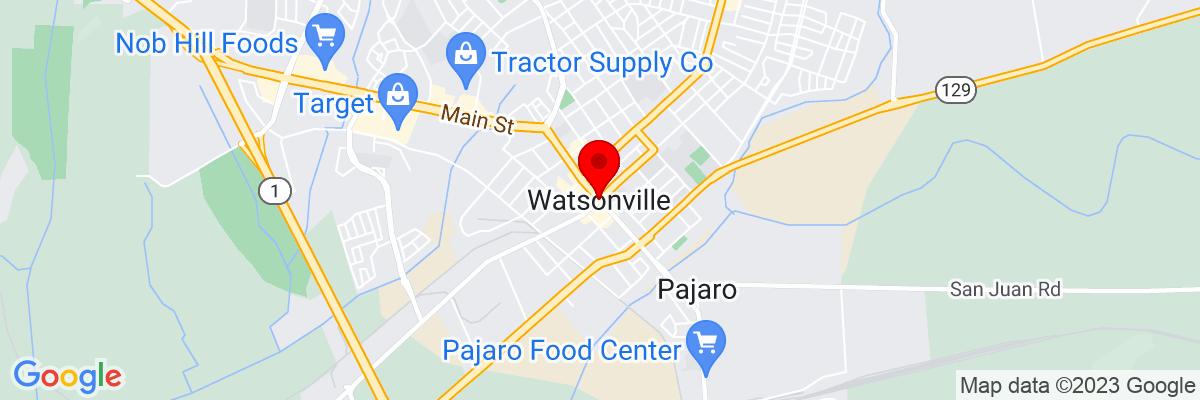Google Map of 36.910231111111,-121.75689472222