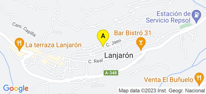 situacion en el mapa de . Direccion: LA MADRE Nº 2, 18420 Lanjarón. Granada