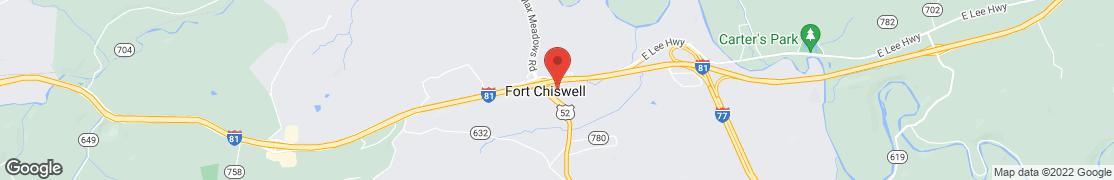 Map of 139 Factory Outlet Dr in Fort Chiswell