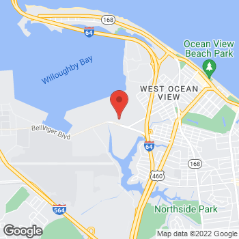 Map of Tim Hortons at 9230 7th Ave, Norfolk, VA 23511