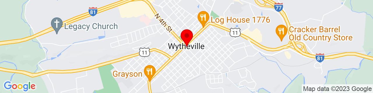 Google Map of 36.94833333333333, -81.08472222222221