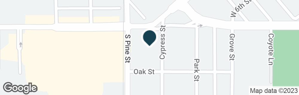 Google Map of1300 W YOSEMITE AVE