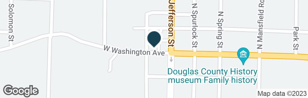 Google Map of124 W. WASHINGTON AVE