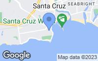 Map of Santa Cruz, CA