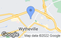 Map of Wytheville, VA