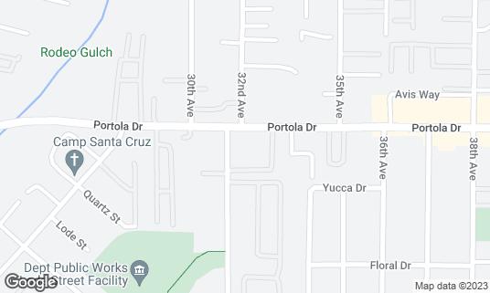 Map of The Pocket at 3102 Portola Dr Santa Cruz, CA