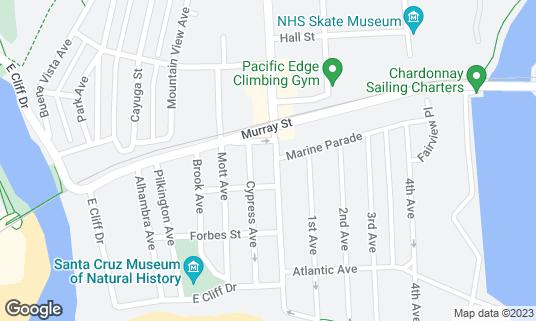 Map of Brady's Yacht Club at 413 Seabright Ave Santa Cruz, CA