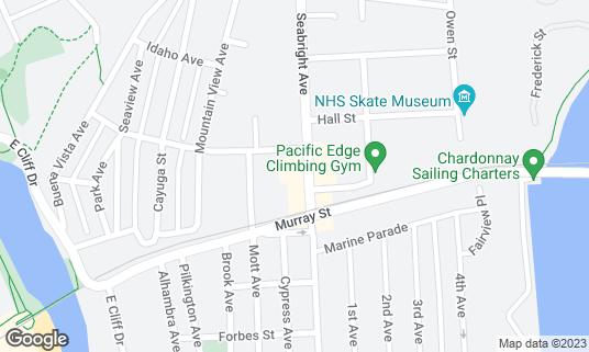 Map of The Blue Lounge at 529 Seabright Ave Santa Cruz, CA