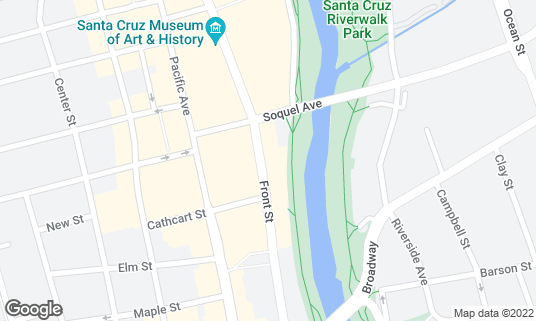 Map of I Love Sushi at 516 Front St Santa Cruz, CA