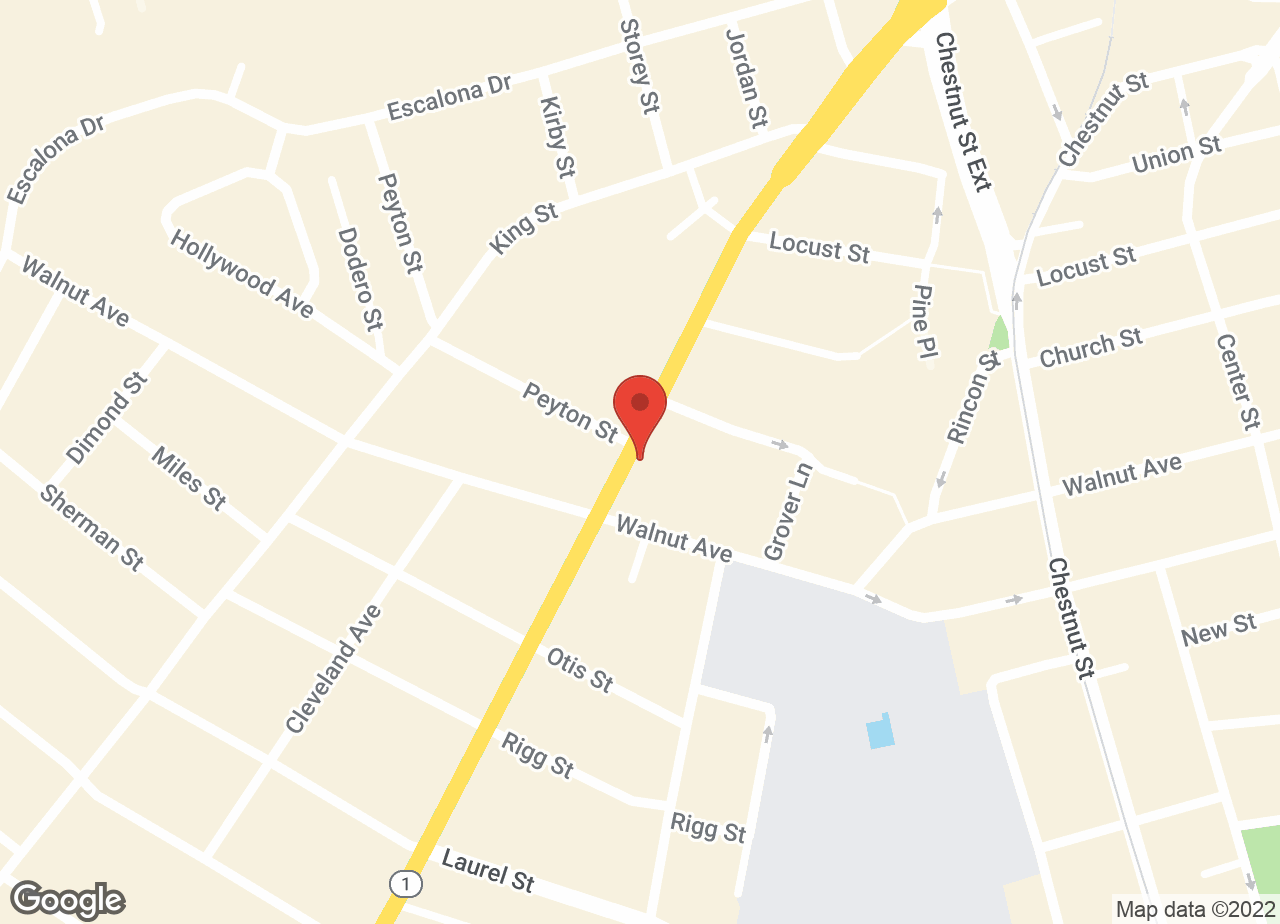 Google Map of VCA Animal Hospital of Santa Cruz