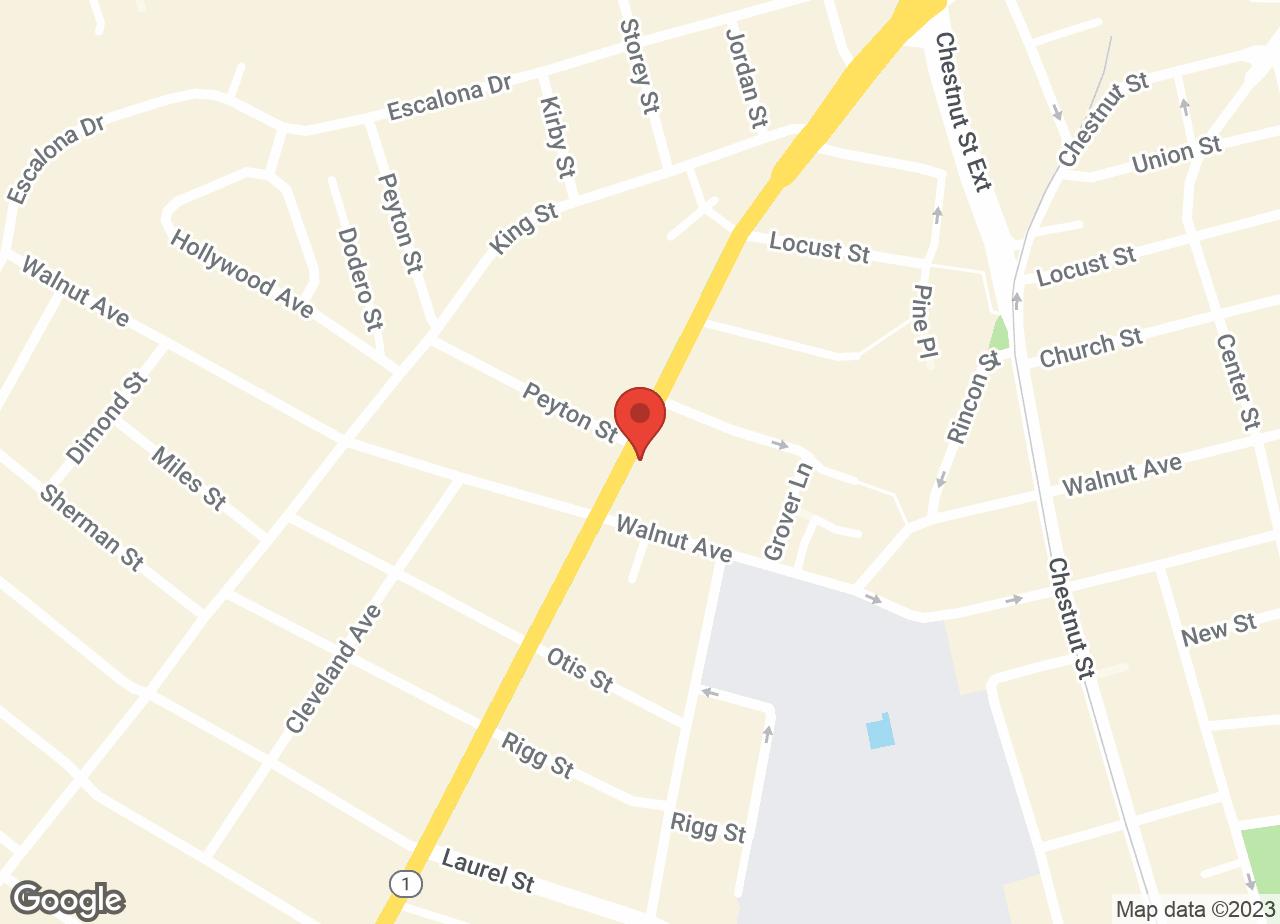 Google Map of VCA Animal Hospital of Santa Cruz