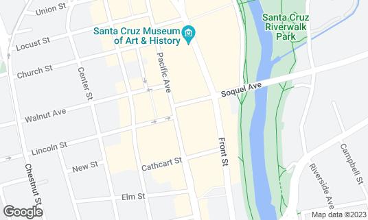 Map of New Leaf Community Market at 1134 Pacific Ave Santa Cruz, CA
