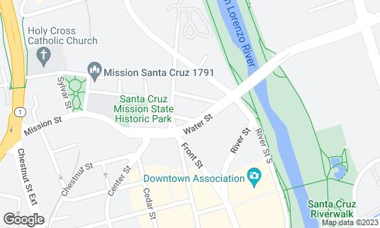 Map of Rush Inn at 113 Knight St Santa Cruz, CA
