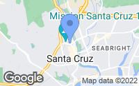 Map of Santa Cruz, CA