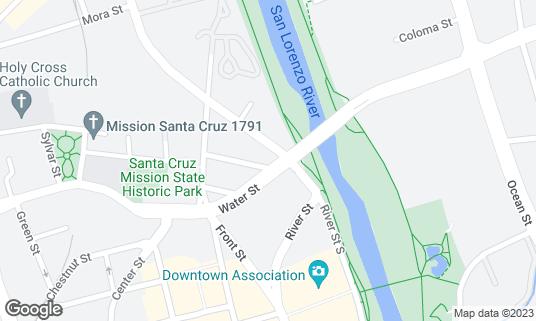 Map of Taqueria Los Pericos at 139 Water St Santa Cruz, CA