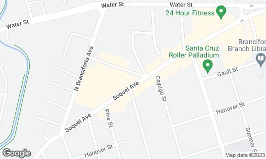Map of One Double Oh Seven Smoking Parlor & Bar at 1007 Soquel Ave Santa Cruz, CA