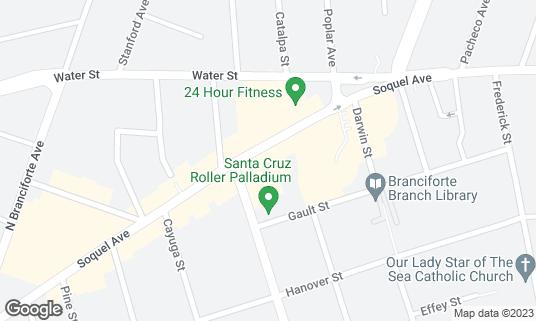 Map of Akira at 1222 Soquel Ave Santa Cruz, CA