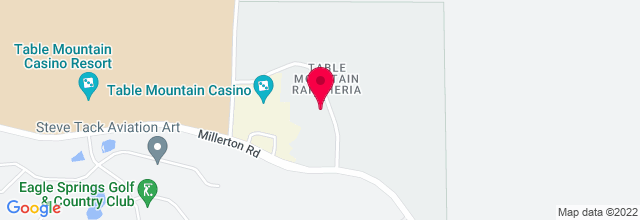 Map for Table Mountain Casino