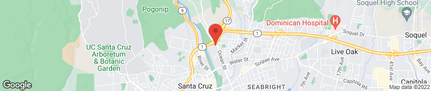 Map of 1515 Ocean St. in Santa Cruz
