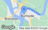 Map of Burnside, KY