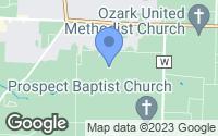 Map of Ozark, MO