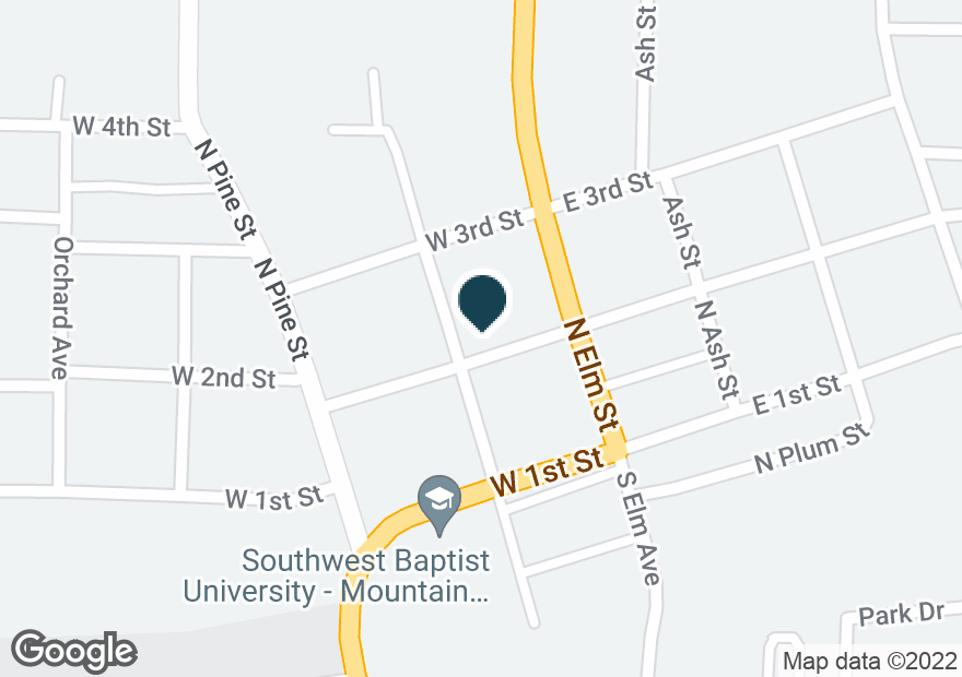 Google Map of124 W 2ND ST