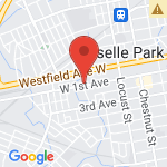 Google Map of 360 West 1st Ave Roselle, New Jersey 07203