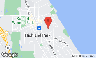 Map of 360 Hazel Avenue HIGHLAND PARK, IL 60035