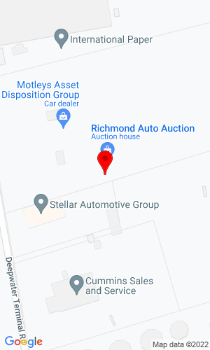 Google Map of Motleys Industrial 3600 Deepwater Terminal Road, Richmond, VA, 23234