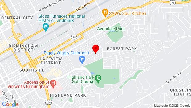 Google Map of 3600 8th Avenue South SUITE 501, Birmingham, AL 35222