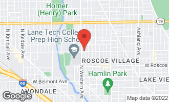 Map of 3600 North Claremont Avenue K2 CHICAGO, IL 60618