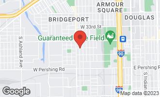 Map of 3603 South Emerald Avenue CHICAGO, IL 60609